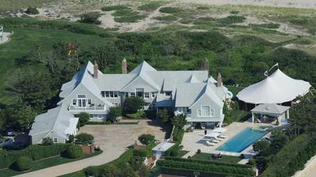 David Koch's Southampton estate is seen in this