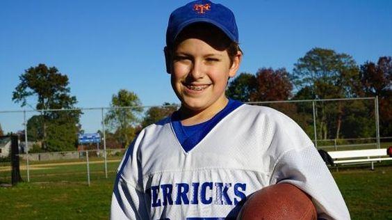 Nicholas Ammann, 12, wore a very special vintage