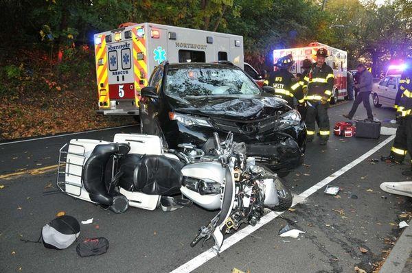 Maldonado Crashes Motorcycle On Long Island - 0425