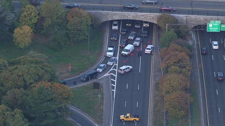 A crash during the morning rush Monday closed