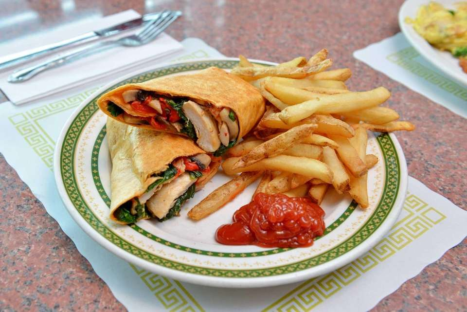 The Holbrook panino features grilled chicken, spinach, portabello