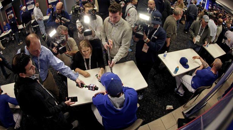 Kansas City Royals third baseman Mike Moustakas talks