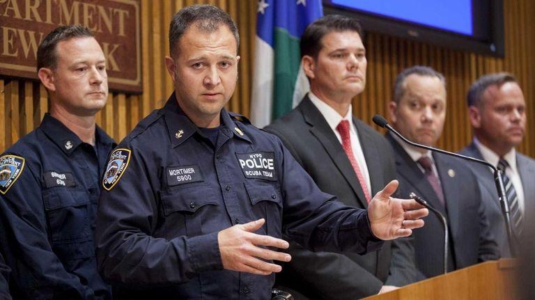 NYPD Detective John Mortimer of the Scuba Unit