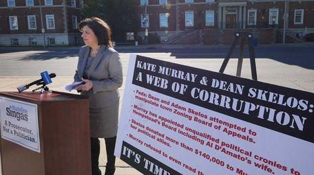Acting Nassau District Attorney Madeline Singas criticizes Hempstead