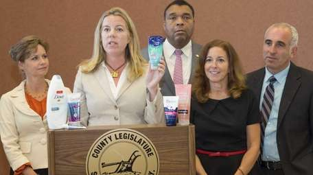 From left to right: Suffolk County legislators Sarah