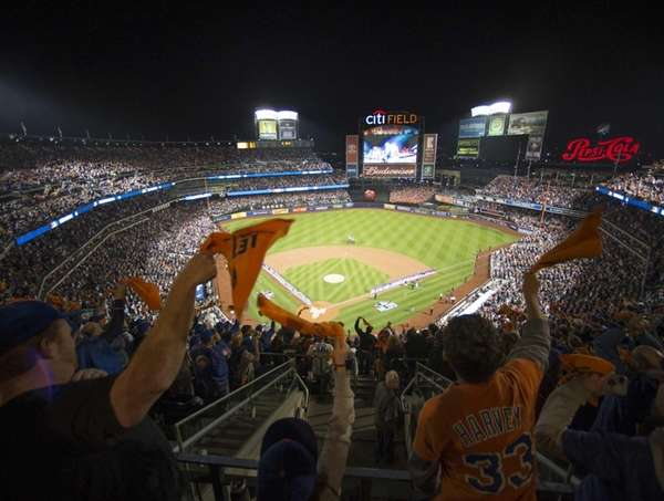 Fans cheer before Game 3 of the NLDS