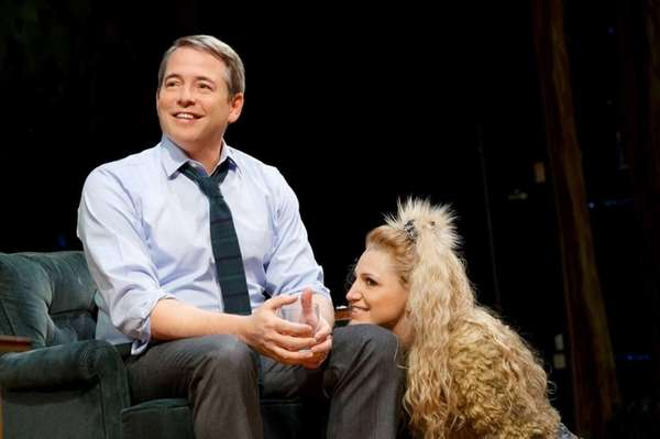 Matthew Broderick with Annaleigh Ashford in A.R. Gurney's