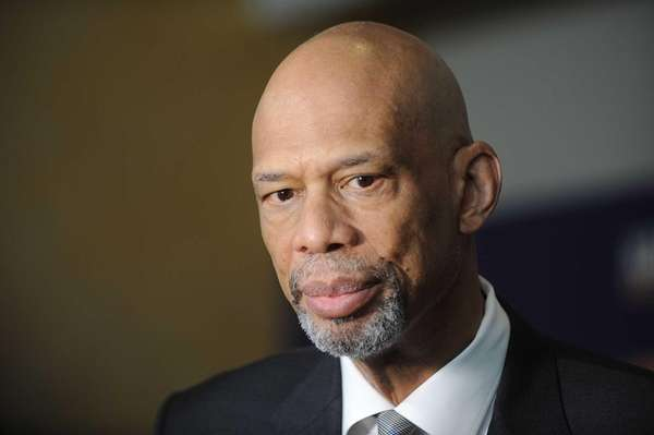 NBA star Kareem Abdul-Jabbar attends the