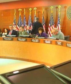 The Nassau County legislature in session on Sunday,