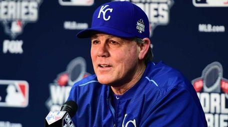 Kansas City Royals manager Ned Yost speaks at