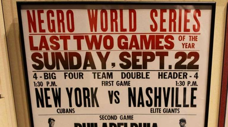 A poster advertising the Negro League World