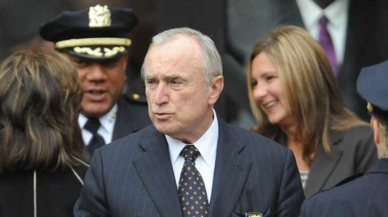 Police Commissioner William Bratton arrives at the Greater