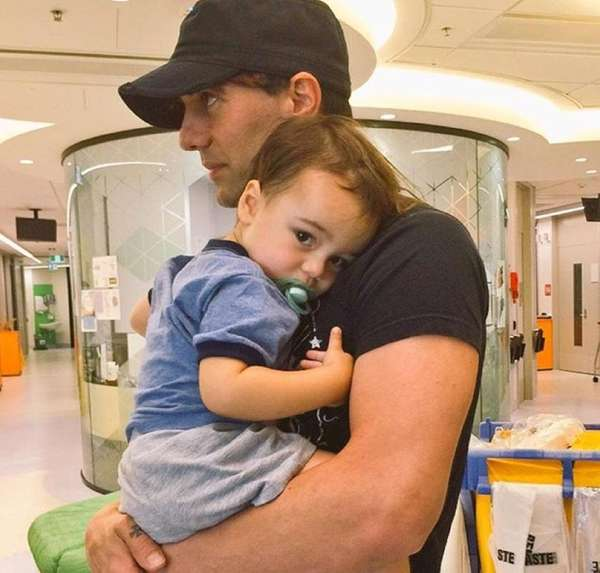 In the hospital with his son, Criss Angel