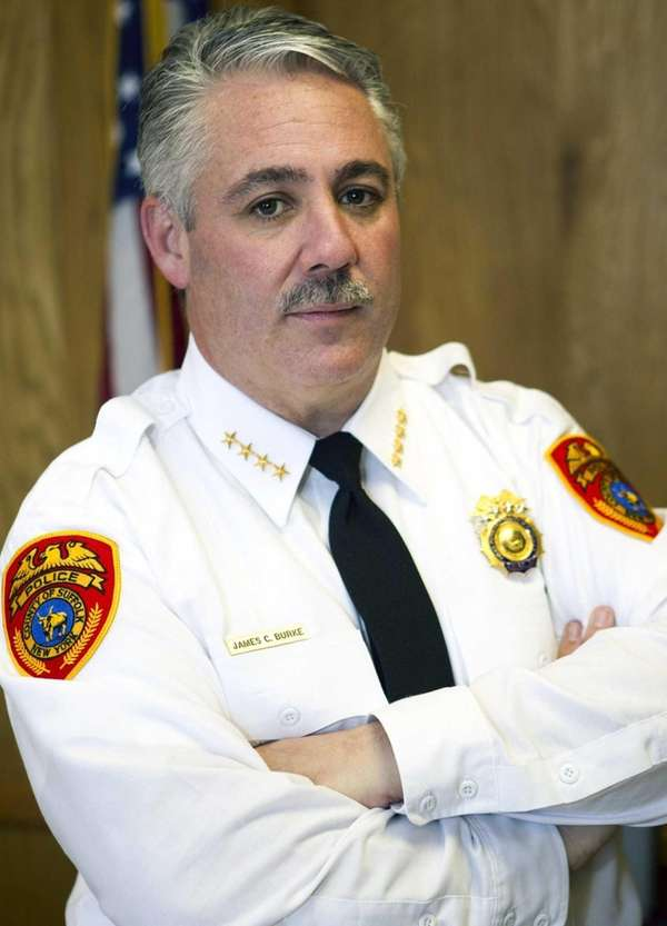 Suffolk Police Chief James C. Burke is seen