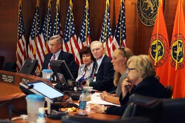 Members of the Nassau County Legislature's Budget Review