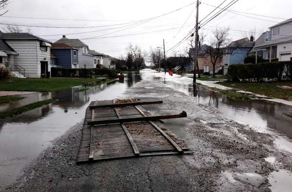 Damage caused by Hurricane Sandy on Nassau Avenue