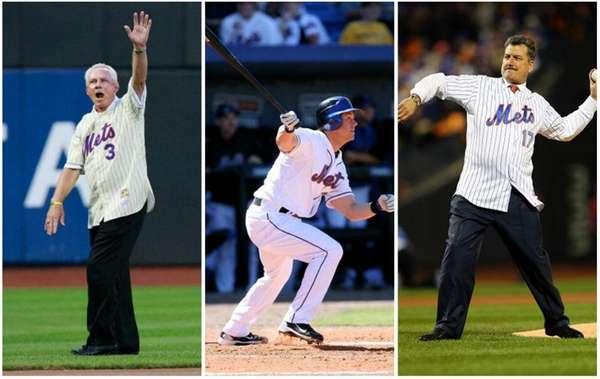 Ex-New York Mets players Bud Harrelson, Frank Catalanotto,
