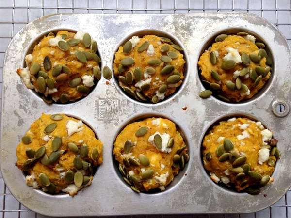 For savory pumpkin muffins, cut back on sugar