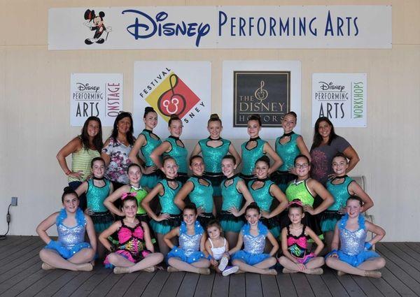 A dance ensemble from the Chorus Line Dance