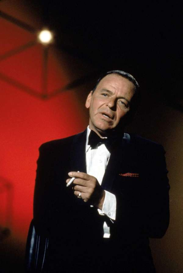 Frank Sinatra performing in the late 1960s. The