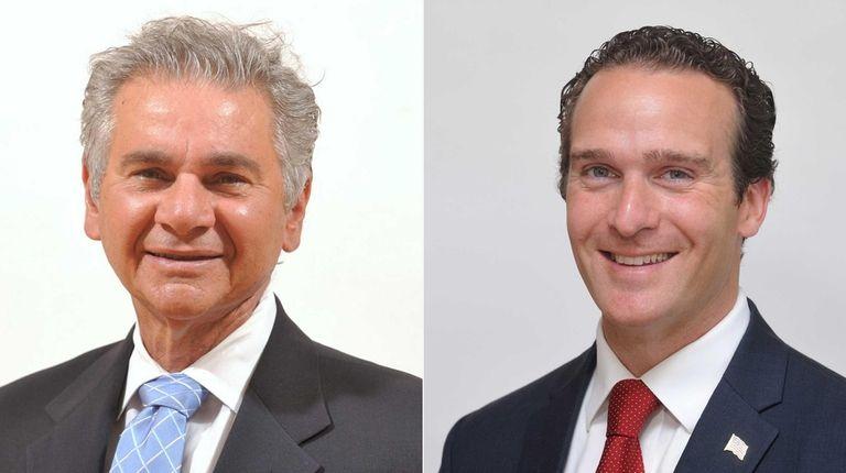 Glen Cove Mayor Reginald Spinello, left, is running