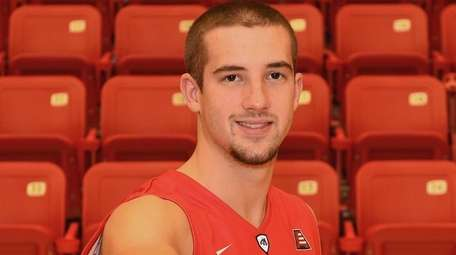 Stony Brook guard Lucas Woodhouse poses for a