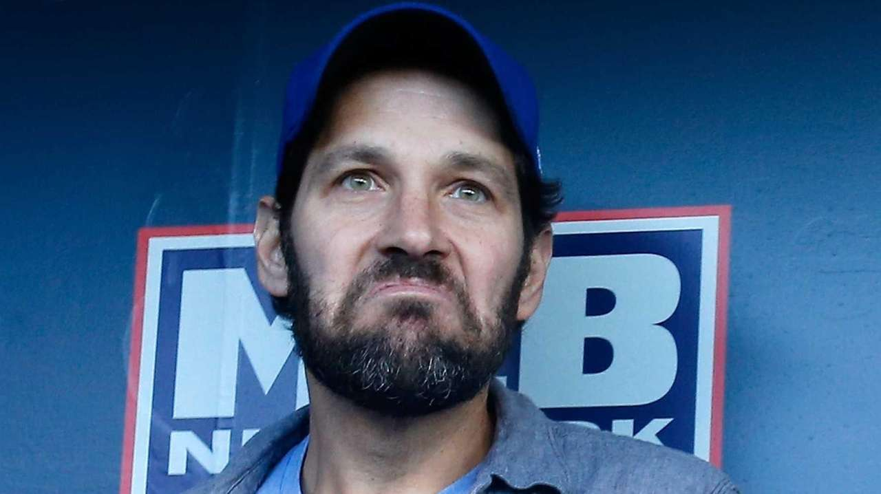 Actor Paul Rudd watches the Kansas City Royals