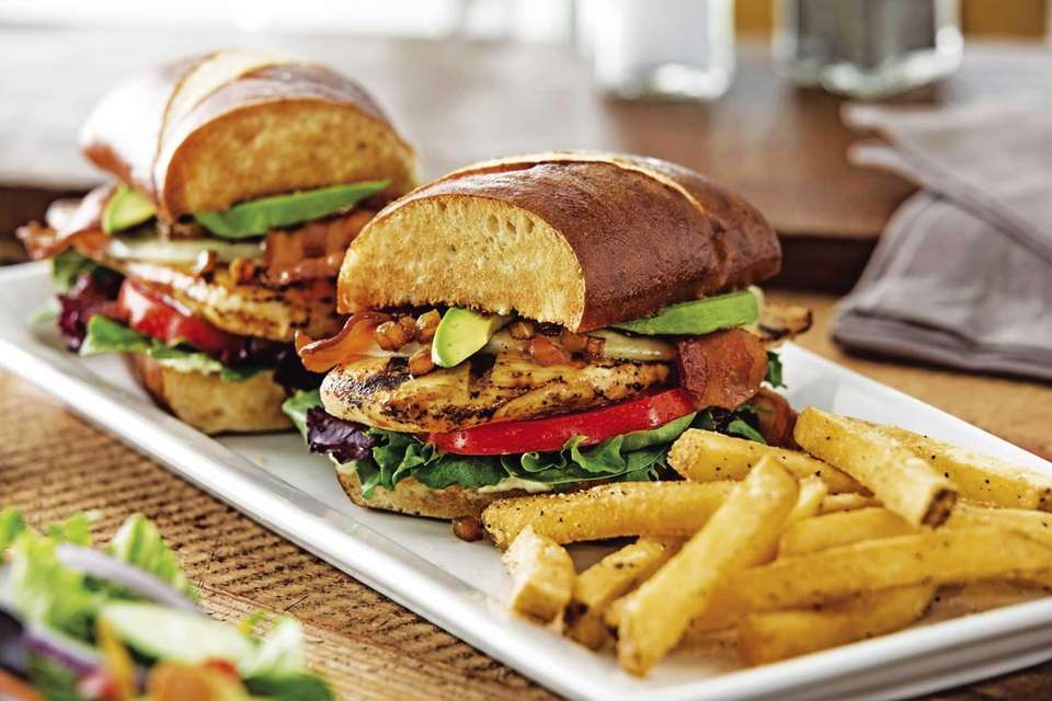 Chili's Bacon Avocado Chicken sandwich, featuring the ingredients