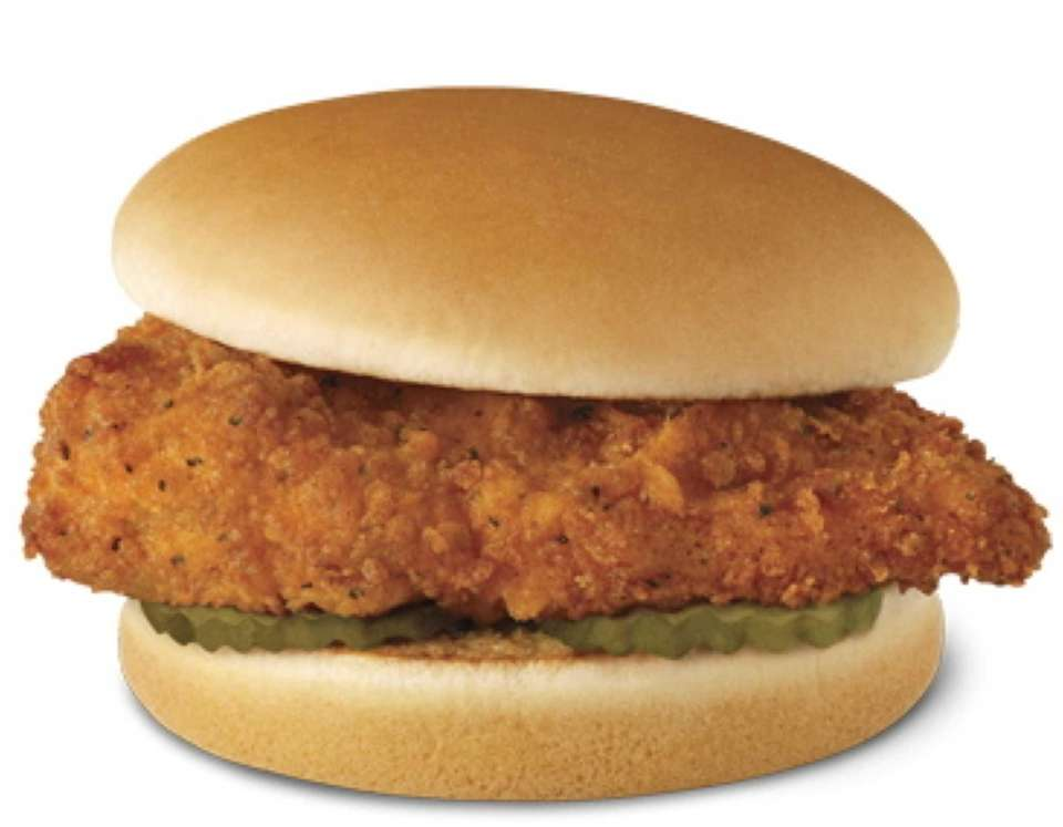 The Chick-fil-A Spicy Chicken Sandwich (which just edges