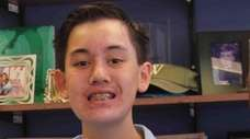 Peter Mainetti, 13, a freshman at Northport High