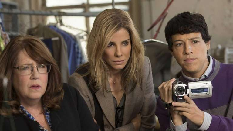 From left, Ann Dowd, Sandra Bullock and Reynaldo