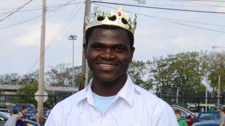 Oyster Bay High School homecoming king Francis Kalombo