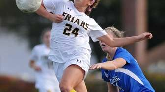 St. Anthony's Francesca Picicci leaps to keep the