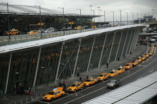 The international arrivals terminal pictured here at New