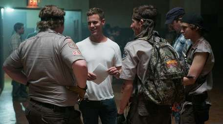 Director Christopher Landon, second from left, with Joey