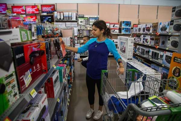 Maria Gioulos, of Hicksville, shops at Walmart in