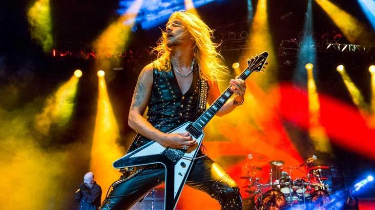 Richie Faulkner of Judas Priest performs during Knotfest