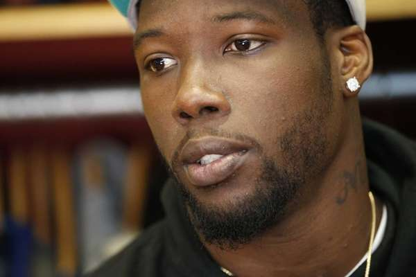 New York Giants defensive end Jason Pierre-Paul speaks