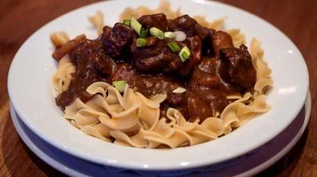 Guiness stew is served at Amity Ales Brewpub