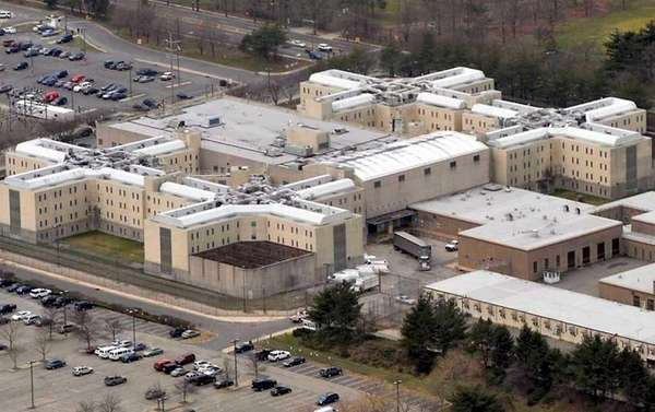 Aerial view of the Nassau County Jail in