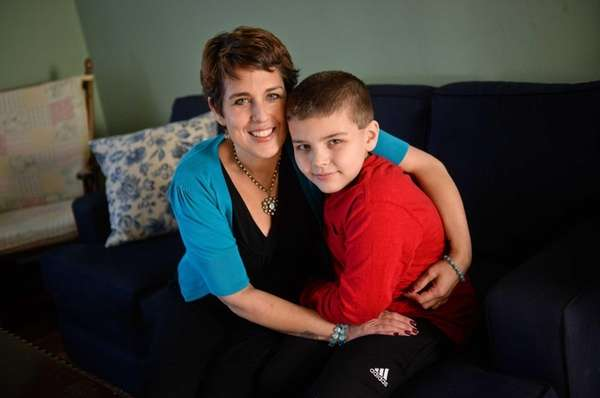 Angela Blanchet with her son Ben, 10, who