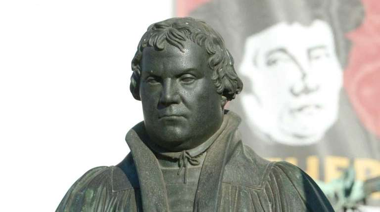 A Martin Luther monument can be seen in