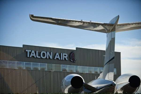 Talon Air's hangar at Republic Airport in East