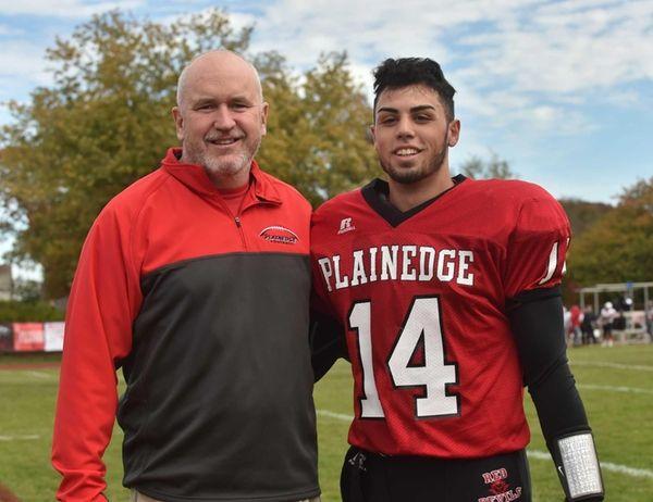 Plainedge's #14 Davien Kuinlan poses with head coach