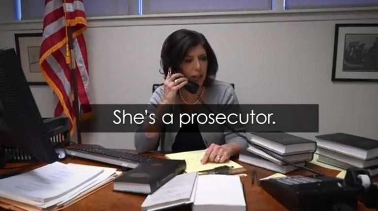 A video image from Madeline Singas' TV ad