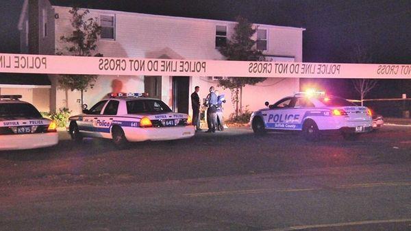 Suffolk County police investigate a home in Ronkonkoma