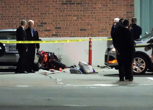 Nassau County police investigate a fatal motorcycle crash
