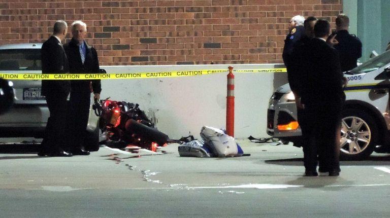 Nassau County police investigate a fatal motorcycle crash
