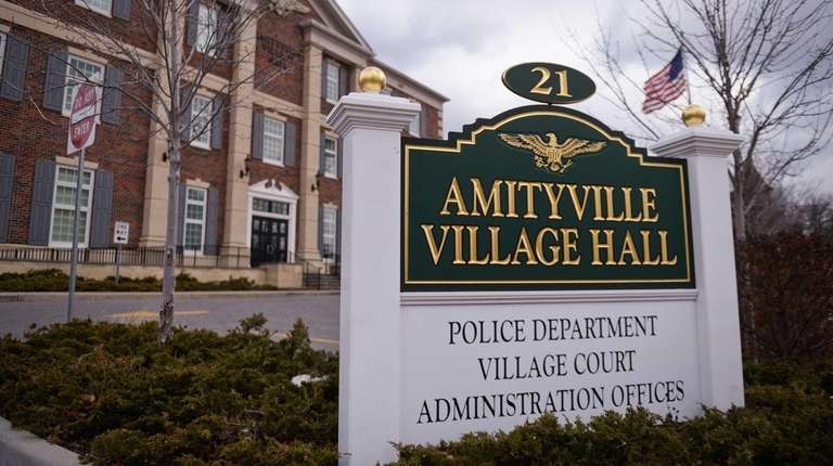 Amityville Village Hall is shown here on Feb.