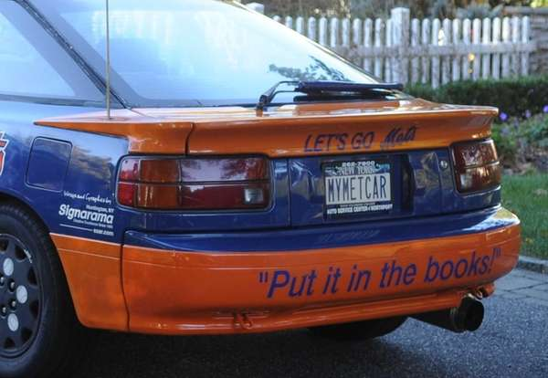 Steve Camas' 1988 Toyota Celica in Mets colors